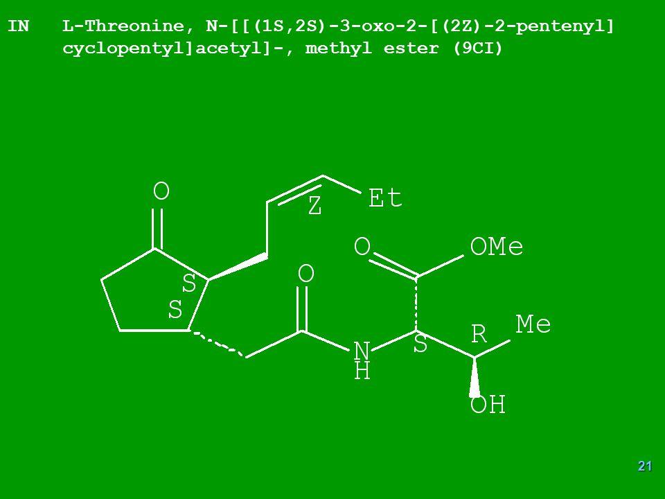 IN L-Threonine, N-[[(1S,2S)-3-oxo-2-[(2Z)-2-pentenyl]